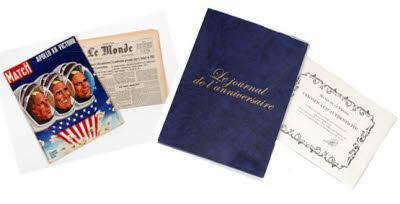 Le journal anniversaire & magazine ancien