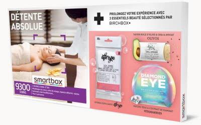 COFFRET : SMARTBOX Détente absolue + 3 produits de beauté sélectionnés par BIRCHBOX