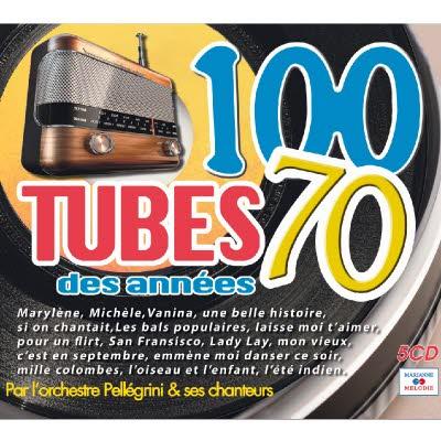 5 CD 100 tubes des années 70 - Les meilleures ventes de 45 tours !