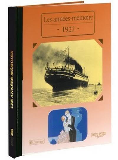 Les années-mémoire - Année 1922