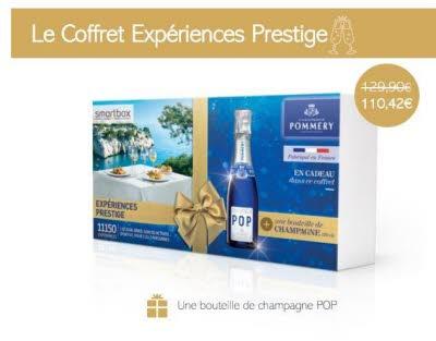 COFFRET : SMARTBOX Expériences Prestige + une bouteille de champagne Pommery
