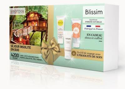 COFFRET : SMARTBOX Séjour insolite en duo + un kit de voyage avec 3 produits de soin de la marque Blissim