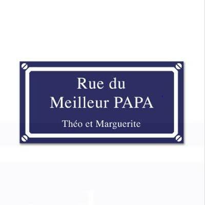 La plaque de rue personnalisée