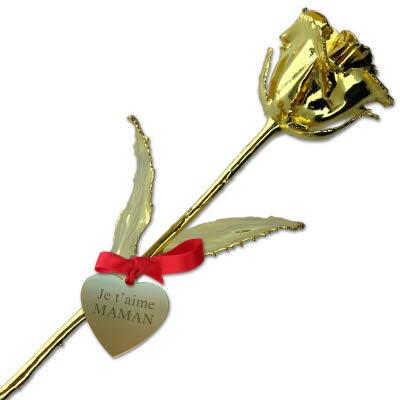 La Rose en or 24 carats personnalisable